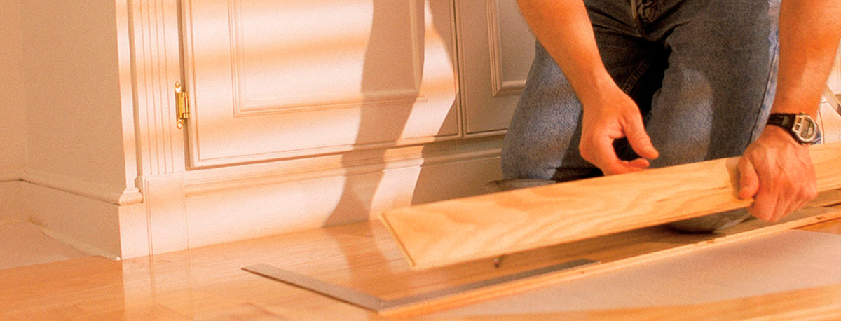 LBH Expert installing hardwood flooring