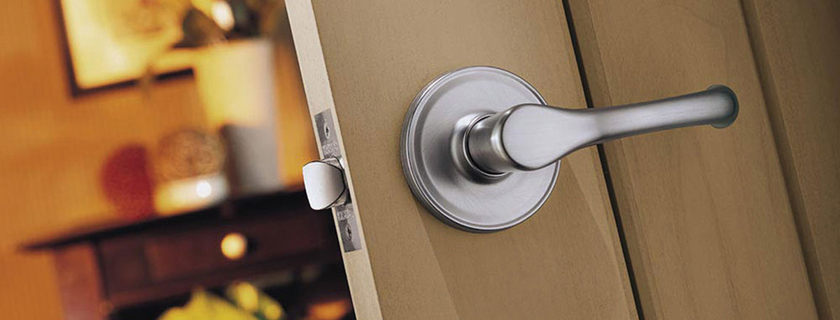 Beautiful doorknob installed on door